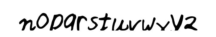 asdfghjkl Font LOWERCASE