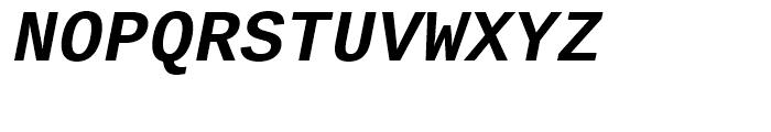 Ascender Sans Mono WGL Bold Italic Font UPPERCASE