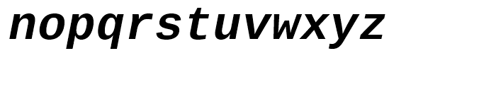Ascender Sans Mono WGL Bold Italic Font LOWERCASE