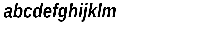 Ascender Sans Narrow WGL Bold Italic Font LOWERCASE