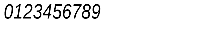 Ascender Sans Narrow WGL Italic Font OTHER CHARS