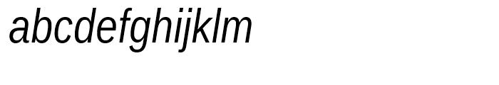 Ascender Sans Narrow WGL Italic Font LOWERCASE