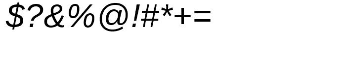 Ascender Sans WGL Italic Font OTHER CHARS