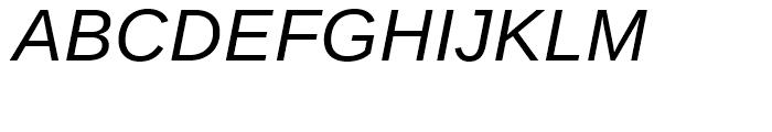Ascender Sans WGL Italic Font UPPERCASE