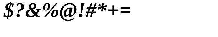 Ascender Serif WGL Bold Italic Font OTHER CHARS