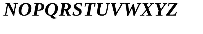 Ascender Serif WGL Bold Italic Font UPPERCASE