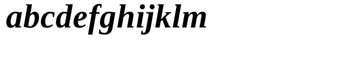 Ascender Serif WGL Bold Italic Font LOWERCASE