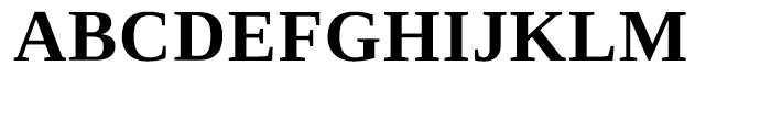 Ascender Serif WGL Bold Font UPPERCASE