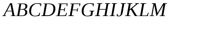 Ascender Serif WGL Italic Font UPPERCASE