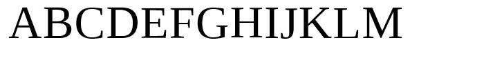Ascender Serif WGL Regular Font UPPERCASE