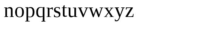 Ascender Serif WGL Regular Font LOWERCASE