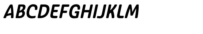 Ashemore Softened Cond Bold Italic Font UPPERCASE