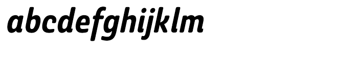 Ashemore Softened Cond Bold Italic Font LOWERCASE