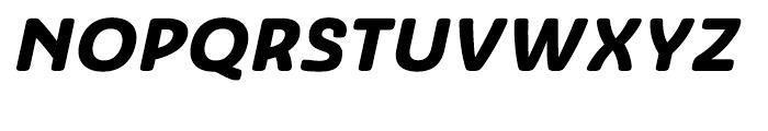 Ashemore Softened Ext Black Italic Font UPPERCASE