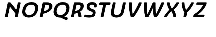 Ashemore Softened Ext Bold Italic Font UPPERCASE