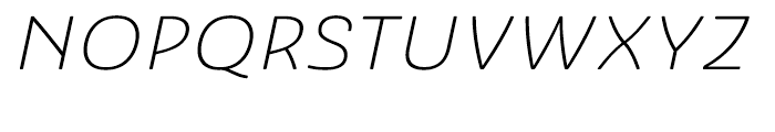 Ashemore Softened Ext Light Italic Font UPPERCASE