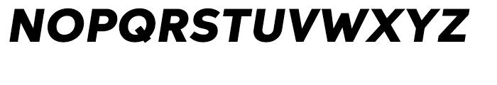 Aspira Wide Black Italic Font UPPERCASE