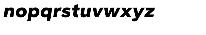 Aspira Wide Black Italic Font LOWERCASE