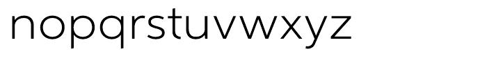Aspira Wide Light Font LOWERCASE