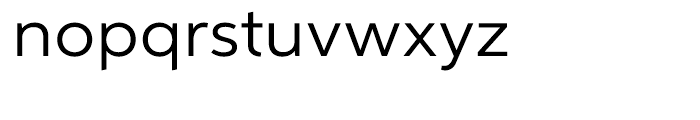 Aspira Wide Regular Font LOWERCASE