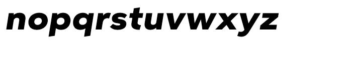 Aspira XWide Black Italic Font LOWERCASE