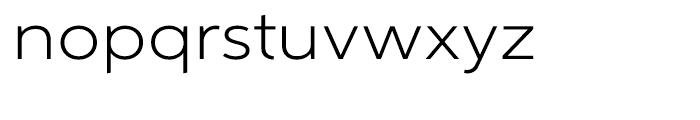 Aspira XWide Light Font LOWERCASE
