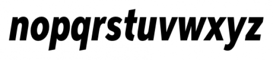 Aspira XXXNar Heavy Italic Font LOWERCASE
