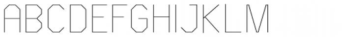 Asbel Condensed UltraLight Font UPPERCASE