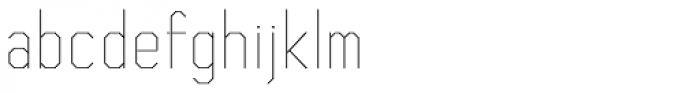 Asbel Condensed UltraLight Font LOWERCASE
