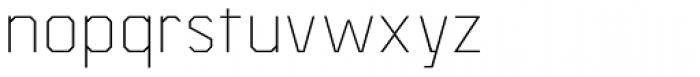 Asbel ExtraLight Font LOWERCASE