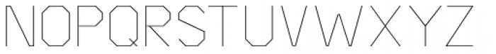 Asbel Thin Font UPPERCASE