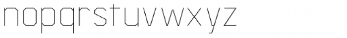 Asbel Thin Font LOWERCASE