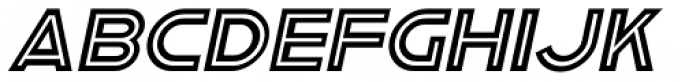 Asbury Park Oblique JNL Font UPPERCASE