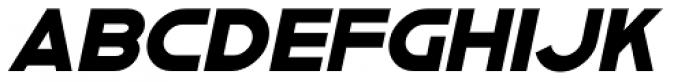 Asbury Park Solid Oblique JNL Font UPPERCASE
