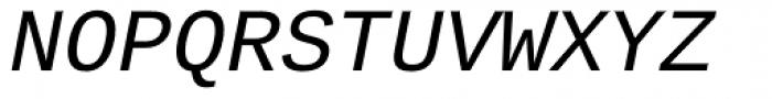 Ascender Sans Mono Italic Font UPPERCASE