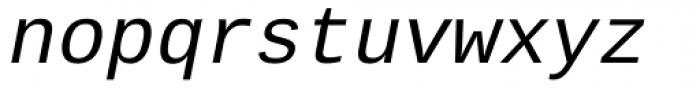 Ascender Sans Mono Italic Font LOWERCASE