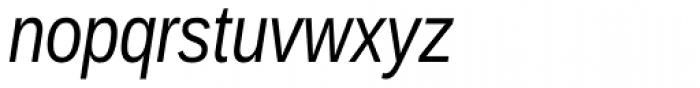 Ascender Sans Narrow Italic Font LOWERCASE