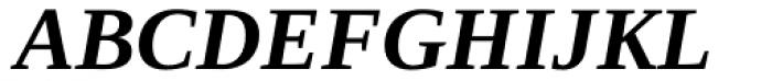 Ascender Serif Bold Italic Font UPPERCASE