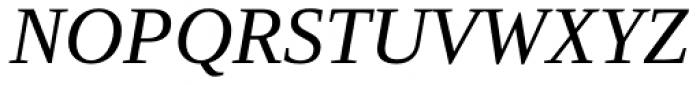 Ascender Serif Italic Font UPPERCASE