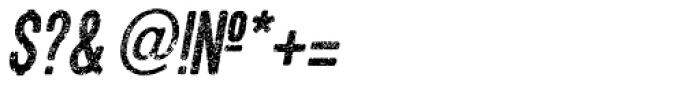 Asfalto Italic Font OTHER CHARS