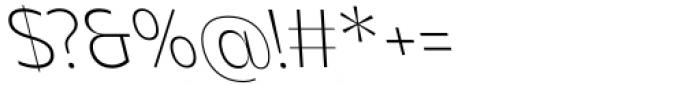 Asgard Extralight Backslant Font OTHER CHARS