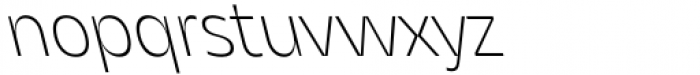 Asgard Extralight Backslant Font LOWERCASE