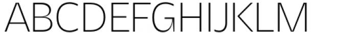 Asgard Extralight Font UPPERCASE