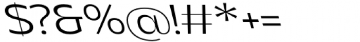 Asgard Fit Light Backslant Font OTHER CHARS
