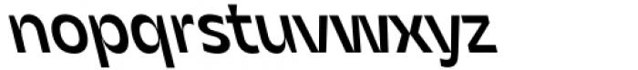 Asgard Medium Backslant Font LOWERCASE