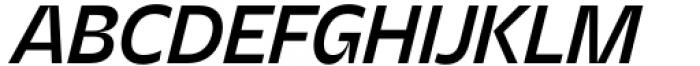 Asgard Medium Italic Font UPPERCASE