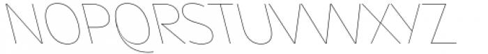 Asgard Thin Backslant Font UPPERCASE
