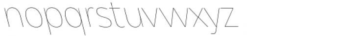 Asgard Thin Backslant Font LOWERCASE