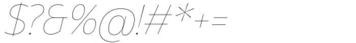 Asgard Thin Italic Font OTHER CHARS