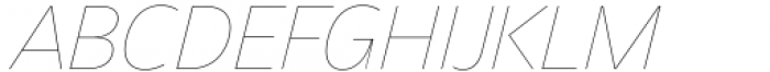 Asgard Thin Italic Font UPPERCASE